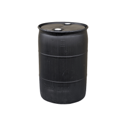 Mitchell Container Recond 55 gal plastic T-H drum, solid black