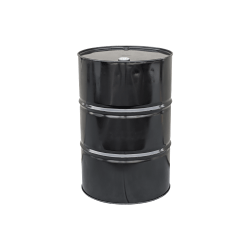 Mitchell Container New 55 gal unlined T-H Steel Drum 2in. & 3/4in. bungs, solid black, 1.1mm