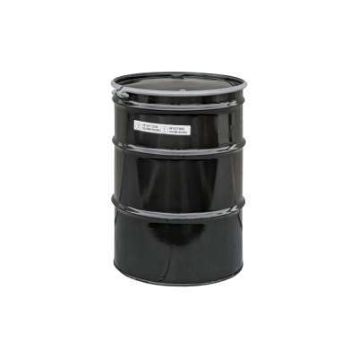 Mitchell Container Recond 55 gal O-H Steel Drum w/bungs, lined, solid black