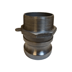 Mitchell Container Banjo Male Adapter 2 inch Male Thread BNJ#200F